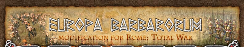 Europa Barbarorum modification for Rome: Total War